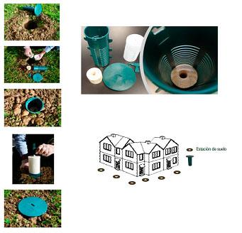 Sistema de cebos para eliminación de subterráneas